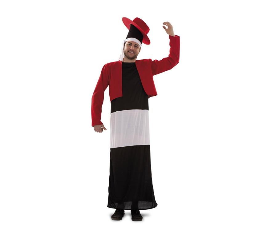 Disfraz de Botella Flamenca para adultos. Incluye disfraz, chaqueta y gorro.