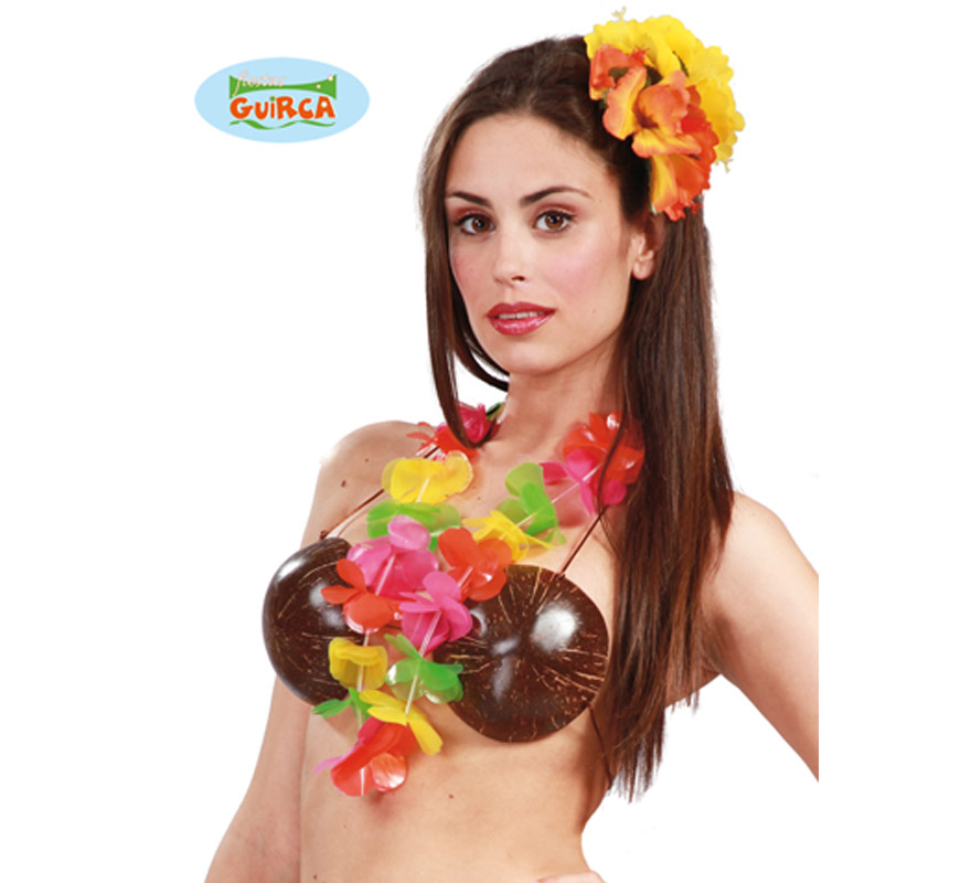 Collar Hawaiano de plástico