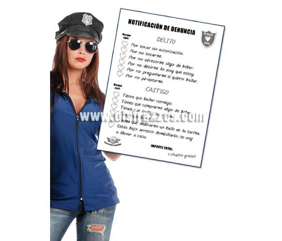 Block notas o multas Policía.