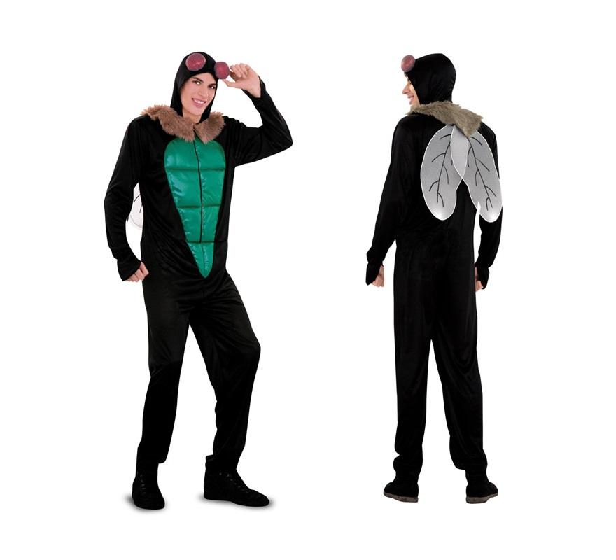 Disfraz de Mosca verde para adultos. Talla standar M-L 52/54. Incluye disfraz completo. Éste disfraz también valdría para mujer, aunque es posible que lo tuvieran que arreglar un poco, depende de la envergadura de las chicas.