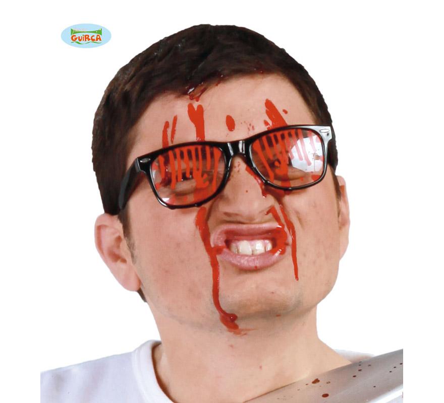 Gafas con sangre para Halloween.