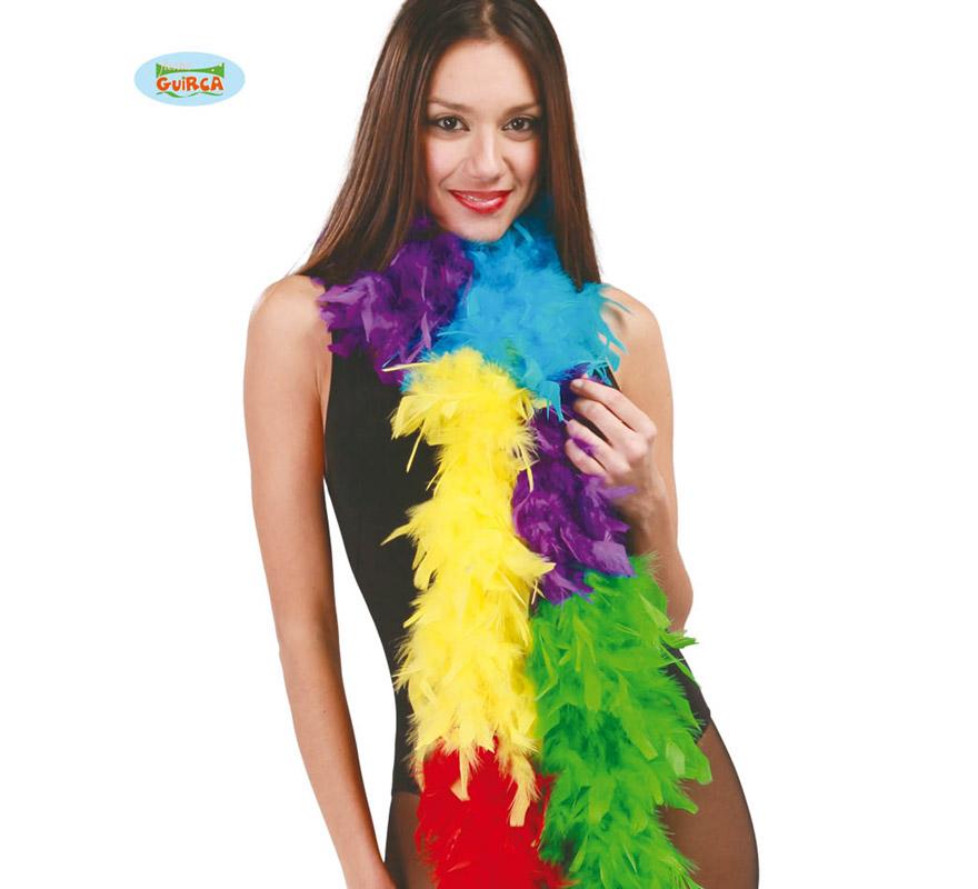 Boa de 40 gr de plumas Multicolor de 1,80 m.