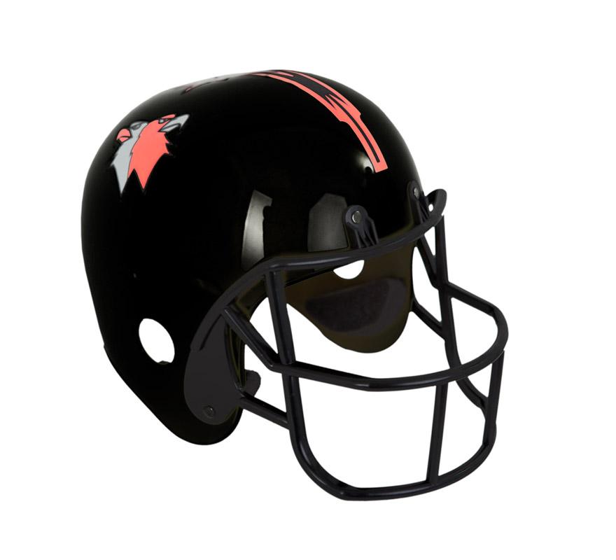 Casco negro de Futbol Americano o de Rugby. Perfecto para el disfraz de Quarterback.