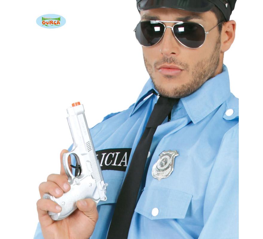 Pistola o Revolver de Policía de 22 cm.