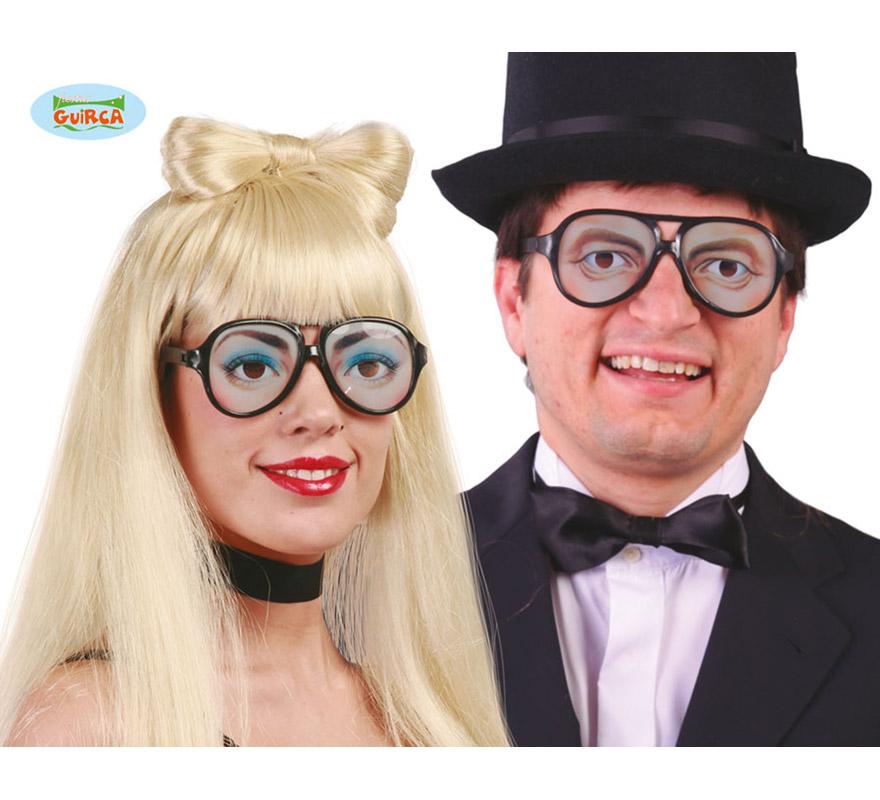 Gafas de Ojos 2 modelos. Talla Universal. Las sombras de ojos de las gafas de mujer tienen colores diferentes. Super divertidas!!!