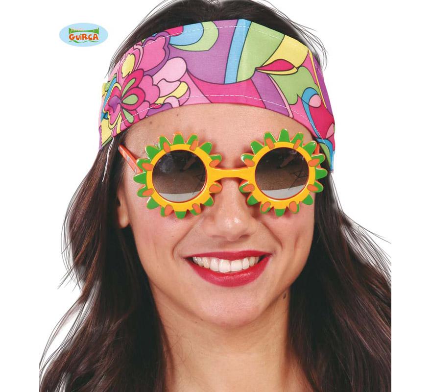 Gafas en forma de Sol. Ideales para los disfraces de Hippies.