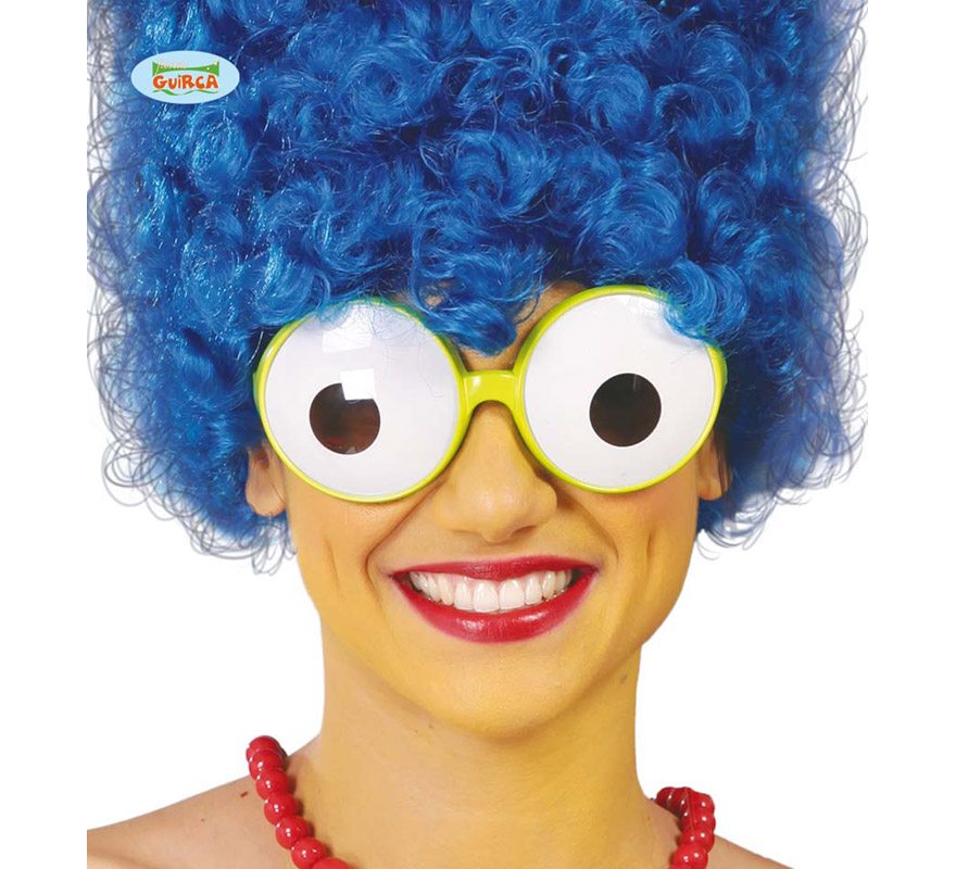 Gafas con Ojos. Ideal para el disfraz de Marge Simpson.