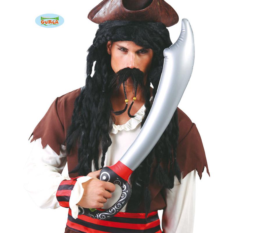 Espada Pirata de plástico hinchable de 70 cm.