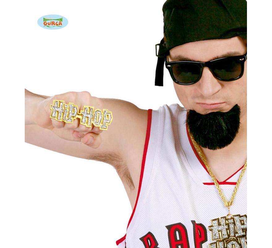 Anillo Hip-Hop imitación oro. Perfecto para disfrazarse de Rapero.
