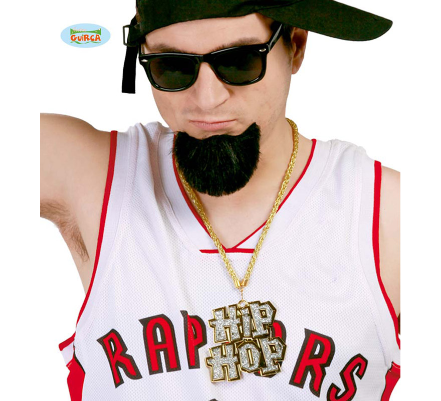 Collar Hip-Hop con cadena imitación oro. Perfecto para disfrazarse de Rapero.