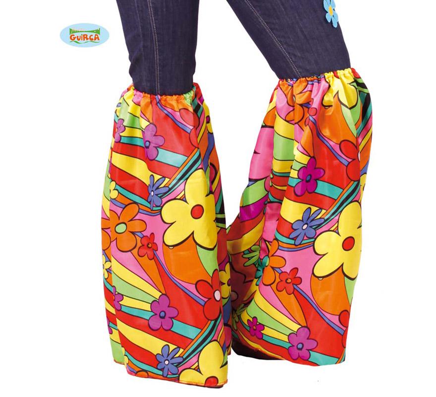 Patas de Elefante para disfraz de Hippie. Incluye el par. Ideal como Complemento para el disfraz de Flower power.