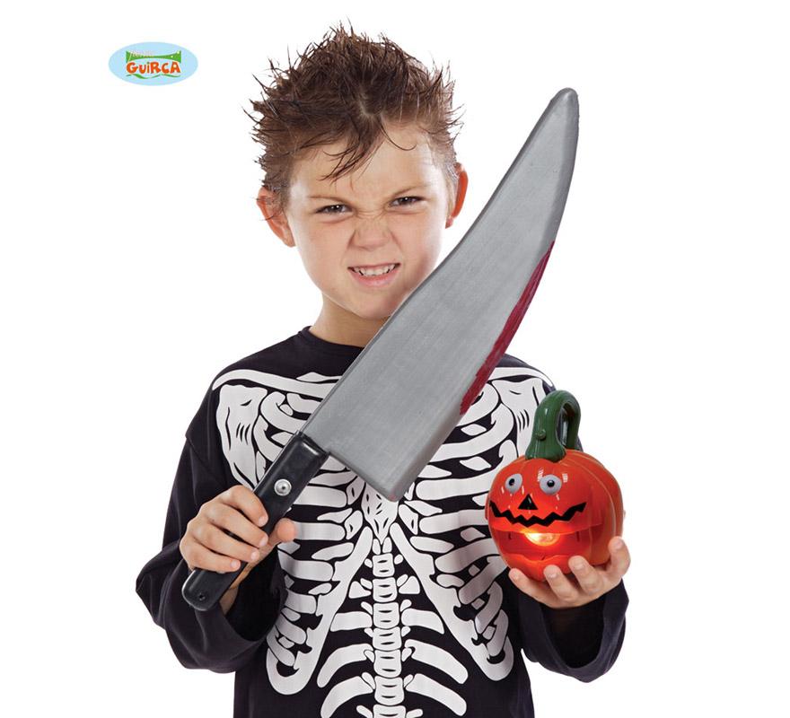 Cuchillo grande de plástico.