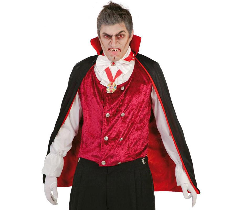 Capa de Vampiro o Drácula de 90 cm para Halloween.