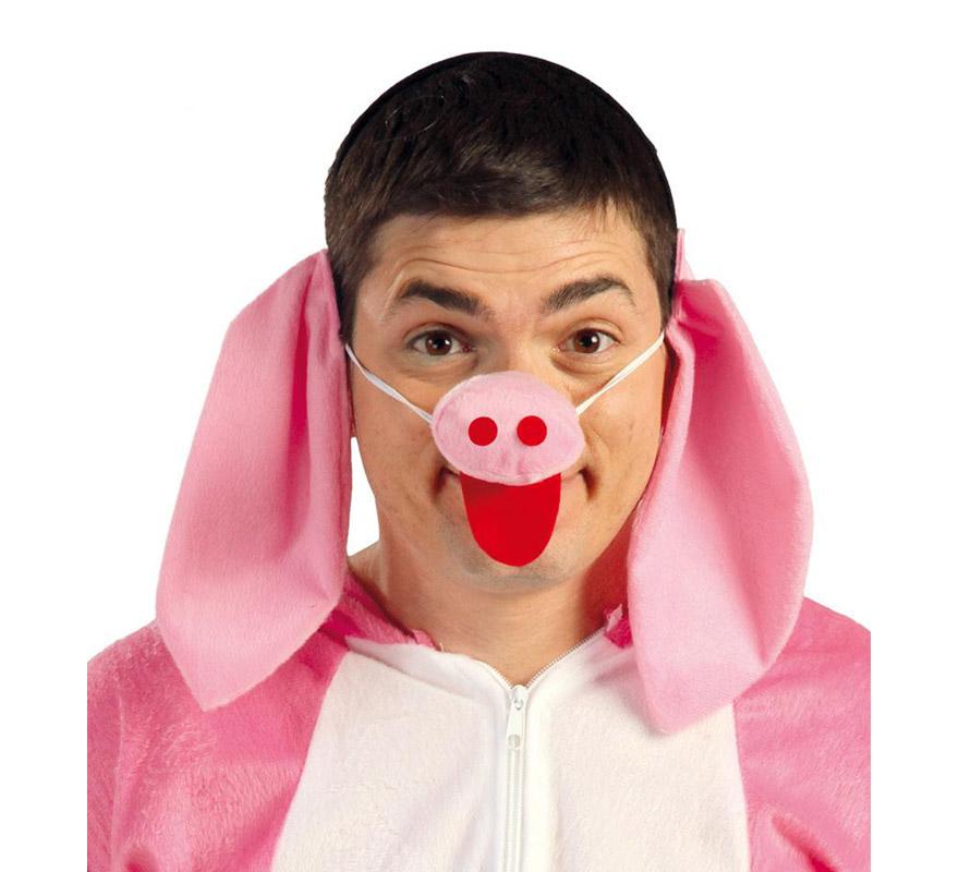 Conjunto de Cerdito o Cerdo de tela. Incluye orejas y nariz.