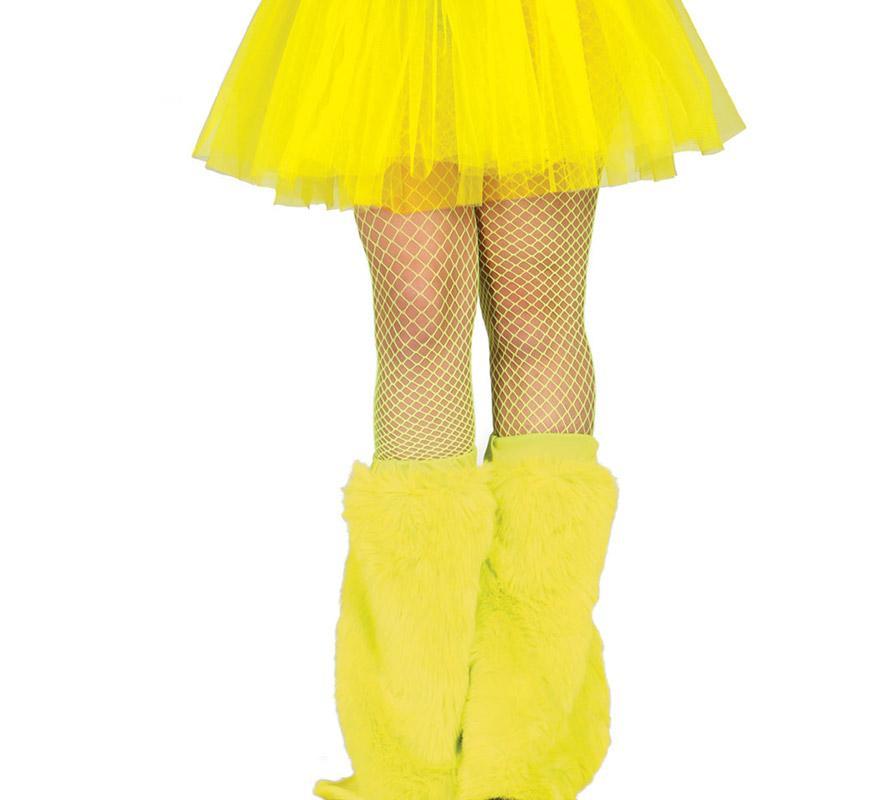Par de Calentadores amarillo neón. Ideal para los disfraces de la Disco, de Monstruita o de Furry Monster.