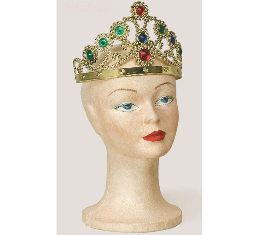 Corona Oro  de Princesa o Reina. Graduable. Color único.