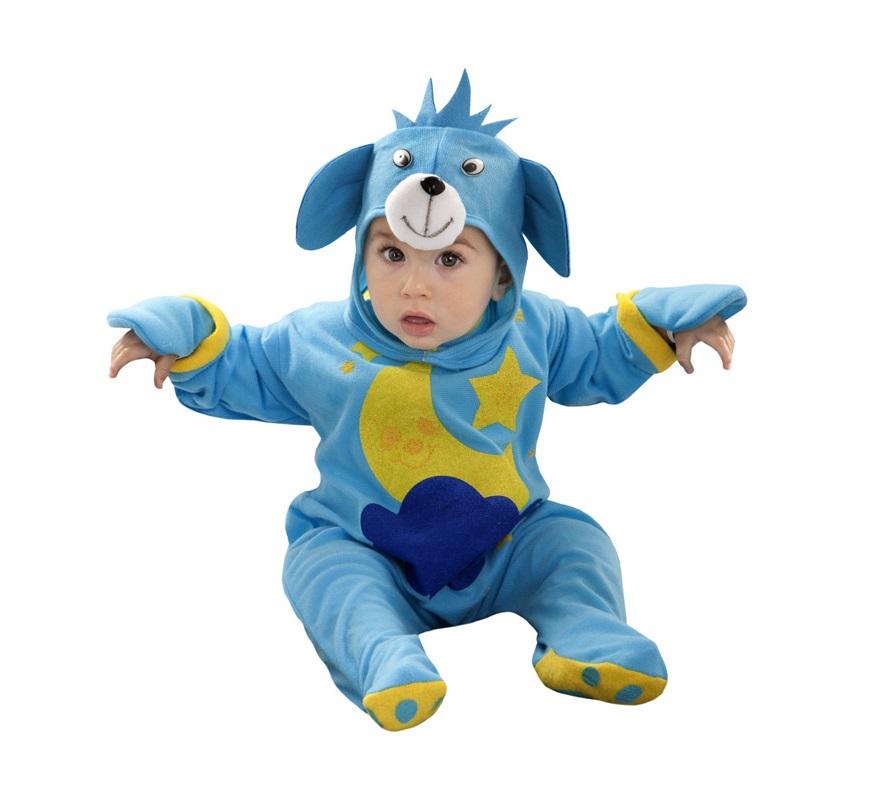 Disfraz de Osito Luna azul para bebés de 6 a 12 meses. Incluye mono y gorro.