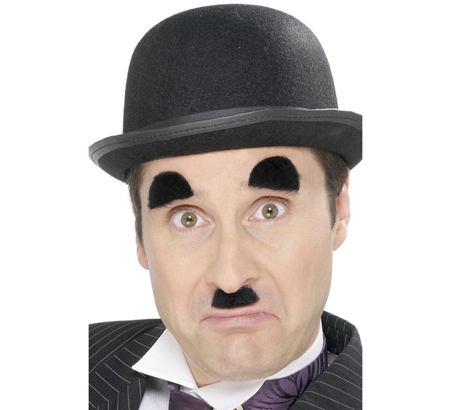 Set de Bigote y Cejas de Charlot o Chaplin adhesivas.