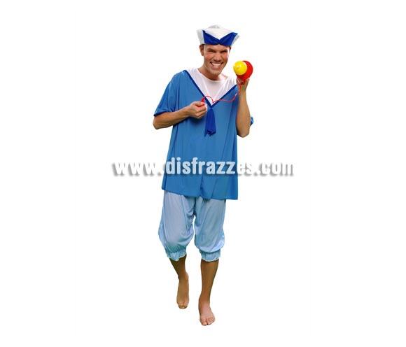 Disfraz barato de Boy Baby Boomer para hombre. Talla standar M-L = 52/54. Incluye gorro, camisa y pantalón.