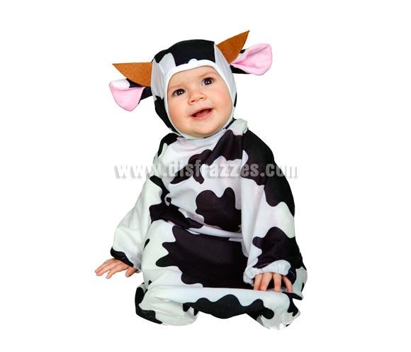 Disfraz de Pequeña Vaca Baby para Carnaval. Talla de 6 A 12 meses. Incluye saquito y capucha.