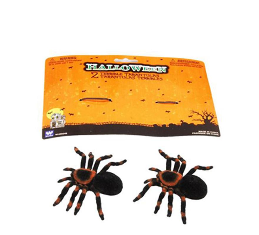 Cartón 2 arañas de 11 cm. para Halloween.