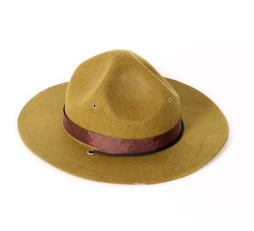 Sombrero de Policía Montada de Canadá adultos. El Complemento ideal para disfrazarse de Policía Canadiense.