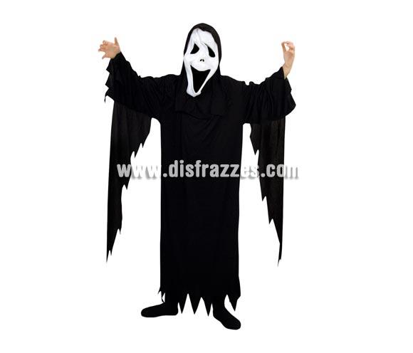 Disfraz de Fantasma económico talla de 7 a 9 años. Incluye túnica y capucha con careta.
