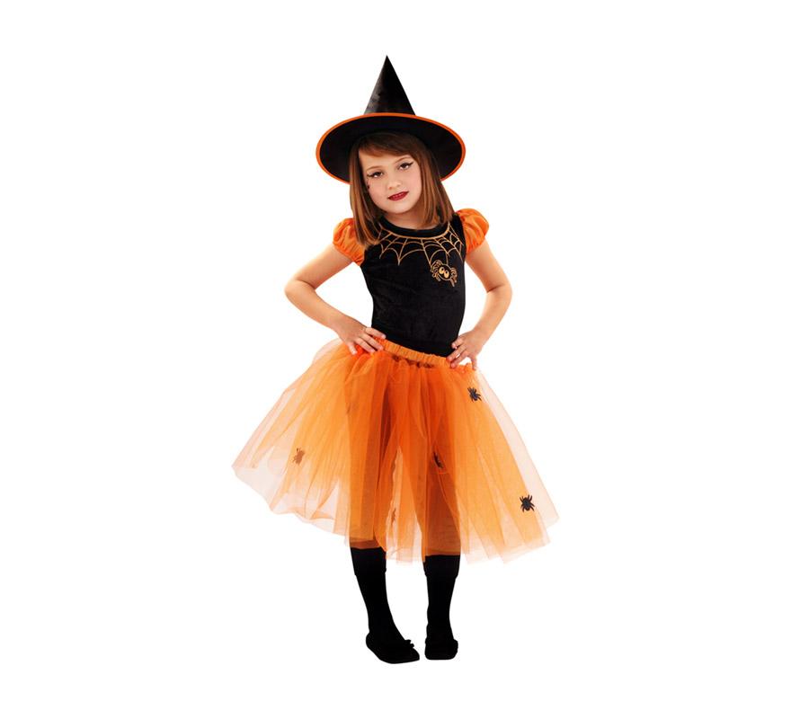 Disfraz barato de Bruja Calabaza para niñas de 3 a 4 años