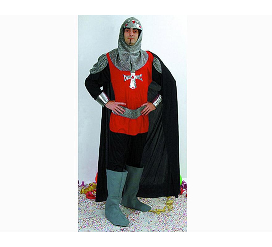 Disfraz de Soldado de Medieval para hombre. Talla Standar M-L = 52/54. Incluye camisa, pantalón, cinturón, verdugo y cubrebotas. Traje de Caballero Medieval de hombre para Ferias Medievales. Espada NO incluida, podrás verla en la sección de Complementos.
