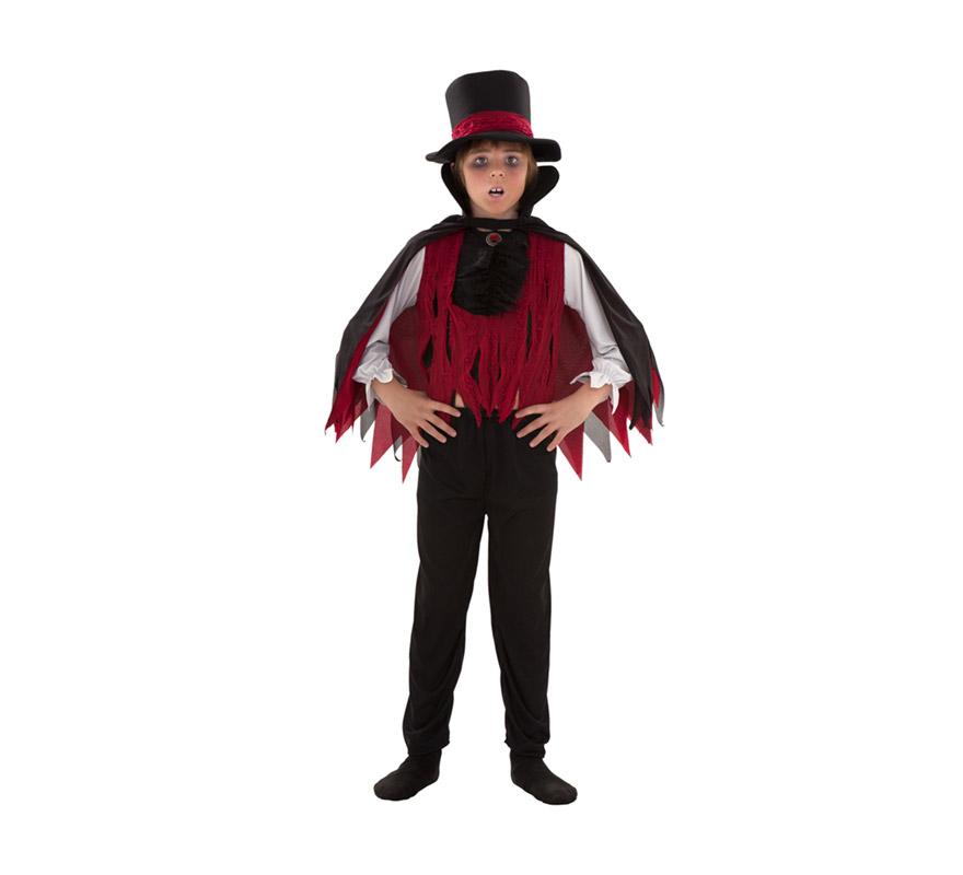 Disfraz barato de Vampiro para niños de 5 a 6 años