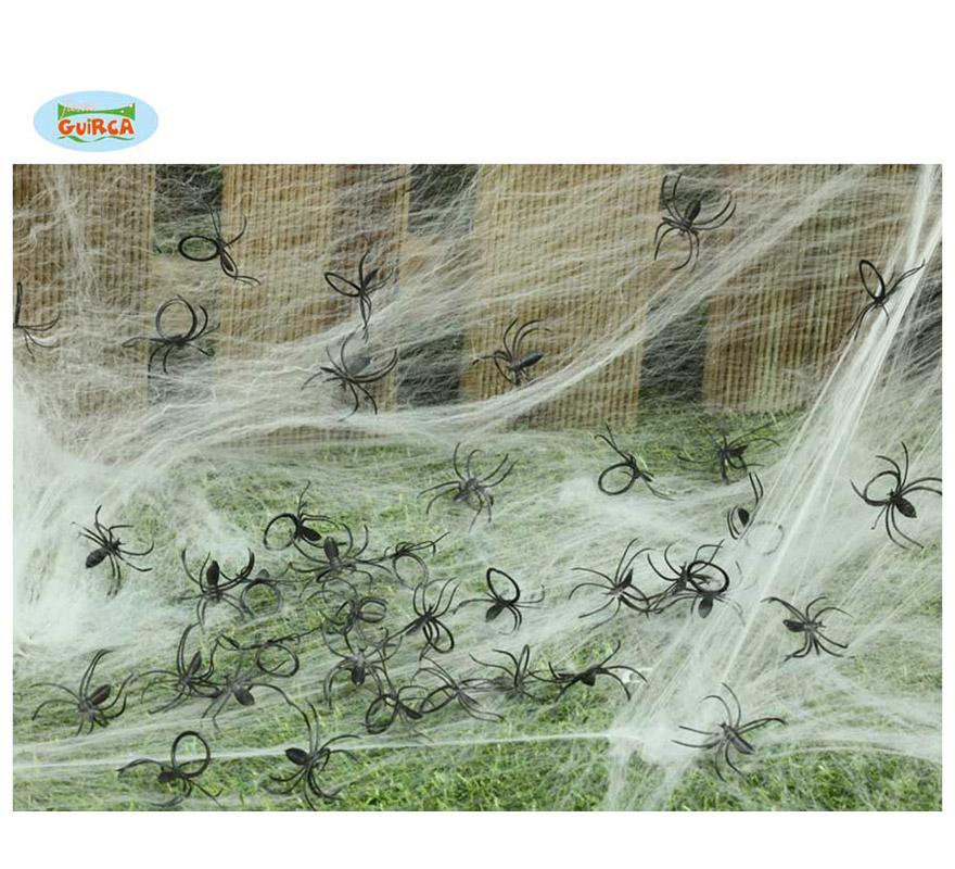 Bolsa con 50 Arañas pequeñas para decorar en Haloween.