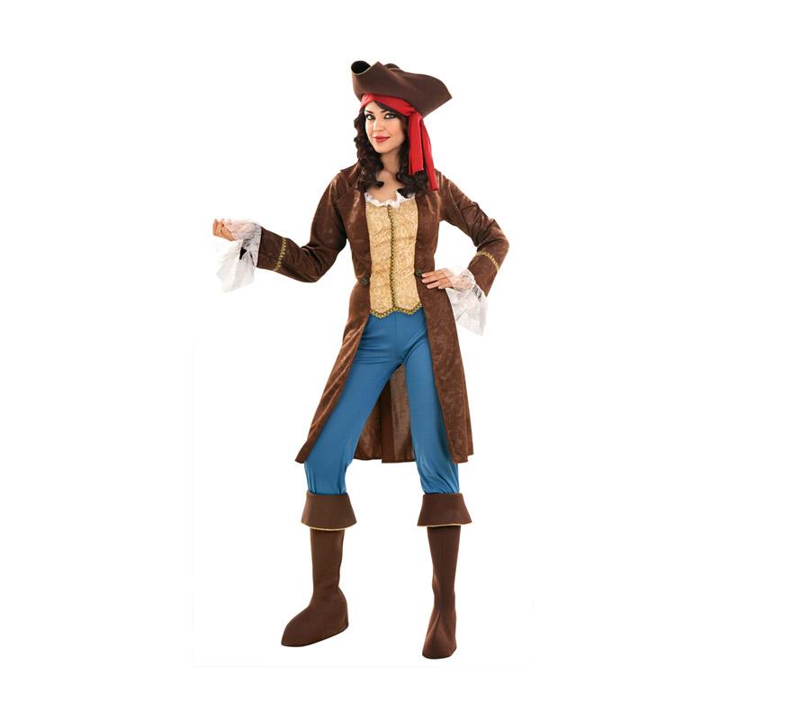 Disfraz barato de Pirata Lujo para mujer talla M-L