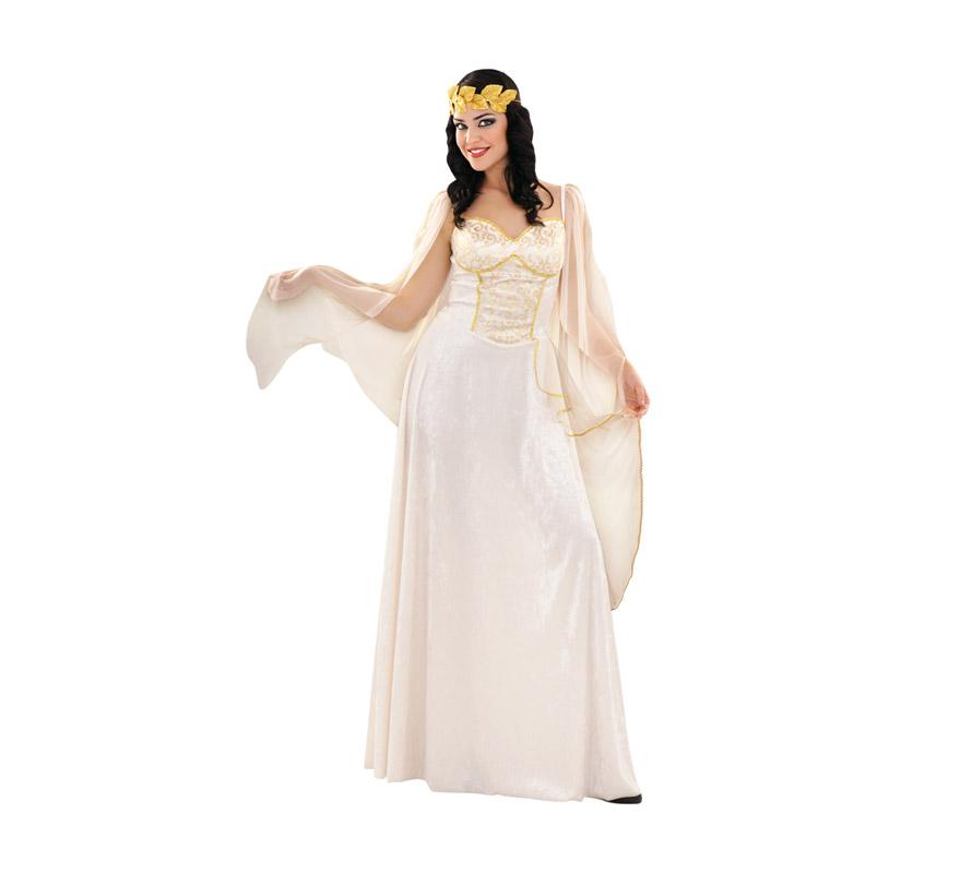 Disfraz de Diosa Griega Lujo para mujer. Talla M-L = 38/42. Incluye vestido y tocado.  También puede valer como disfraz de Diosa Romana.