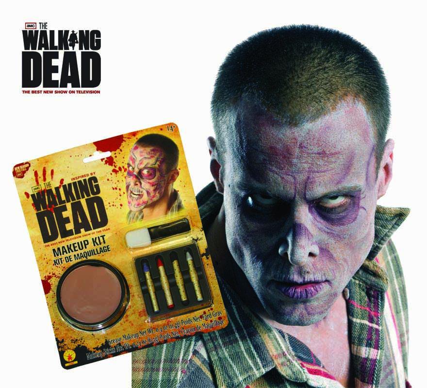 Maquillaje The Walking Dead para Halloween. Contiene los artículos necesarios para hacerse un buen maquillaje de Zombie como el de la imagen.