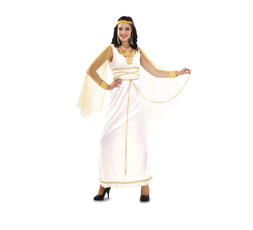 Disfraz de Reina Espartana para mujer. Talla M-L  38/42. Incluye vestido con capa y tocado. Perfecto para disfrazarse de Diosa Romana.