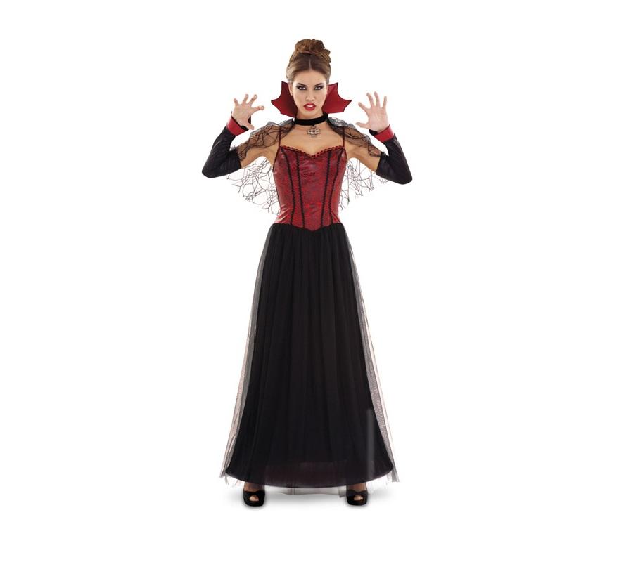 Disfraz barato de Vampiresa Preciosa para mujer talla M-L