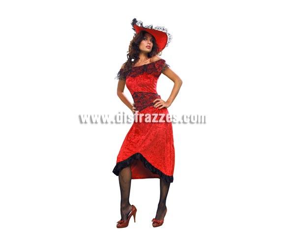 Disfraz barato de Cabaretera para mujer. Talla standar M-L =  38/42. Incluye vestido y sombrero. Este disfraz de Cabaret para mujer es muy bonito y favorece mucho.