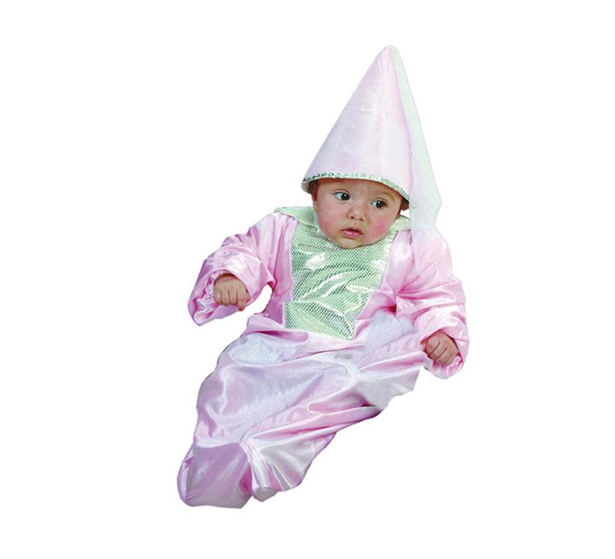 Disfraz de Hada o Princesa Bebe para Carnaval. Talla de 0 a 6 meses. Incluye saquito y gorro.