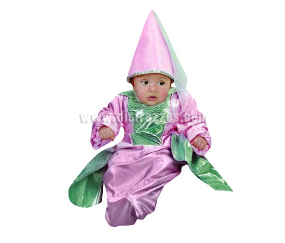 Disfraz de Princesa o Hada Bebé para Carnaval. Talla de 0 a 6 meses. Incluye saquito y gorro.