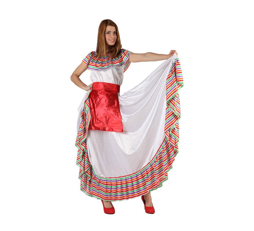 Disfraz de Mejicana para mujer. Talla M-L = 38/42. Incluye vestido.