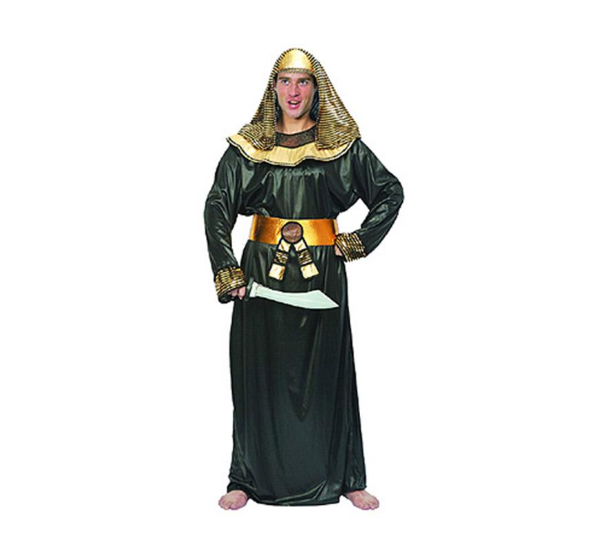 Disfraz de Faraón Egipcio para hombre. Talla standar M-L = 52/54. Incluye túnica, cinturón y pañuelo de la cabeza.