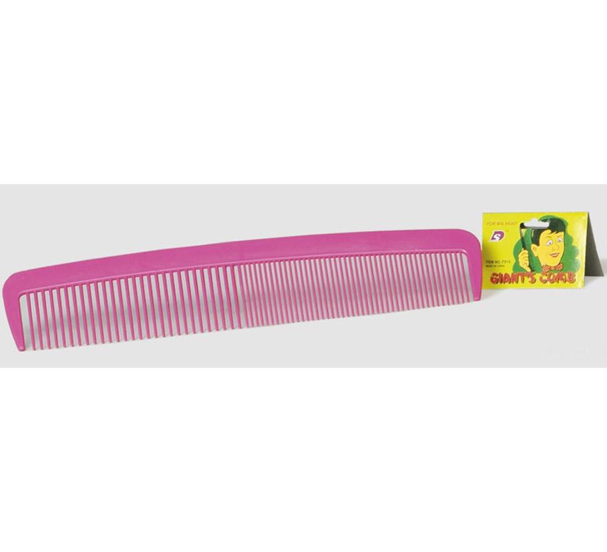 Maxi-Peine de 40 cms de color fucsia. Ideal como complemento para el disfraz de Payaso.