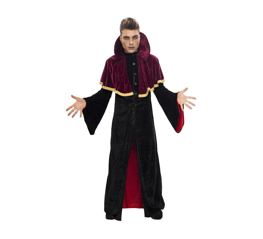 Disfraz de Vampiro rojo para hombre. Talla Standar M-L = 52/54. Incluye traje.