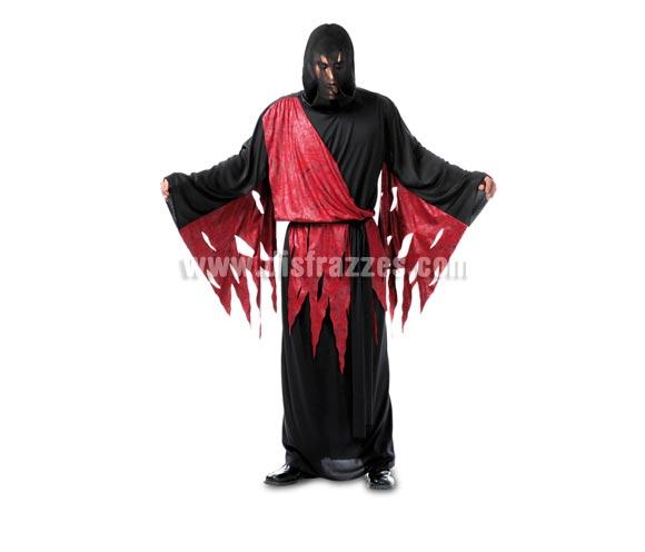 Disfraz de Hombre Muerte adulto para Halloween. Talla Standar M-L =  52/54. Disfraz de Halloween barato que incluye túnica y cinturón.