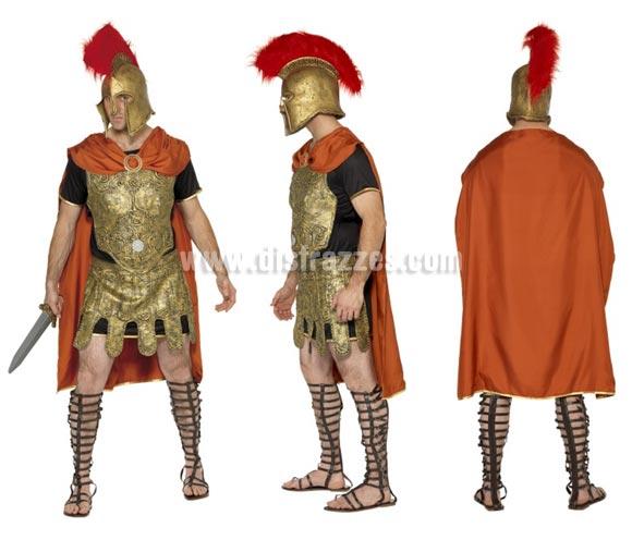 Disfraz de Soldado o Centurión Romano para hombre talla M. Incluye túnica y armadura, capa, coraza y falda. Resto de accesorios NO incluidos, podrás verlos en la sección de Complementos.