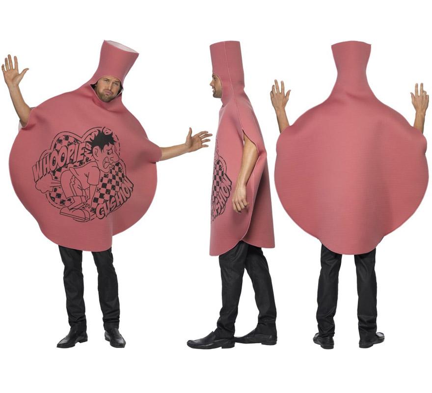 Disfraz de Cojín Tirapeos para adulto talla Universal. Incluye disfraz de foam o tela con espuma con impresión delantera. Un disfraz muy cachondo perfecto para Despedidas de Soltero.