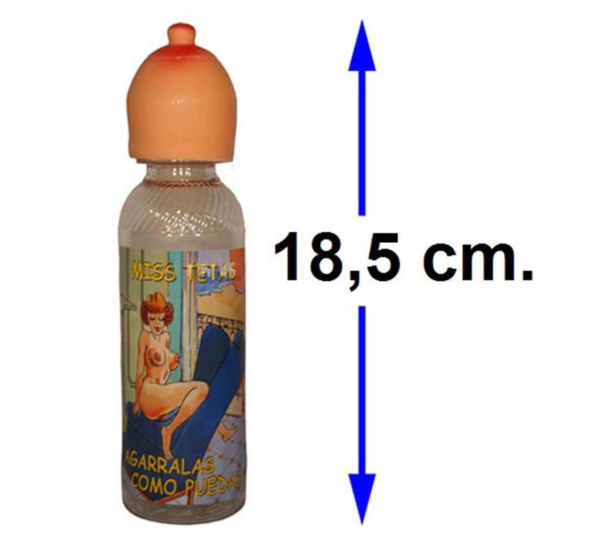 Biberón pecho pequeño de 18,5 cm. Perfecto para Despedidas de Soltero o Soltera.