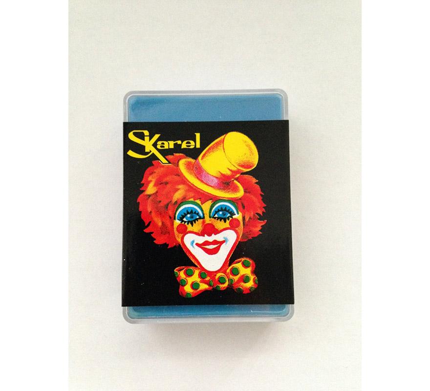 Cajita de maquillaje graso de color Azul Claro de 25 gr. Desmaquillar con agua y jabón o desmaquillador. Ideal para los disfraces de Pitufo o Pitufina.