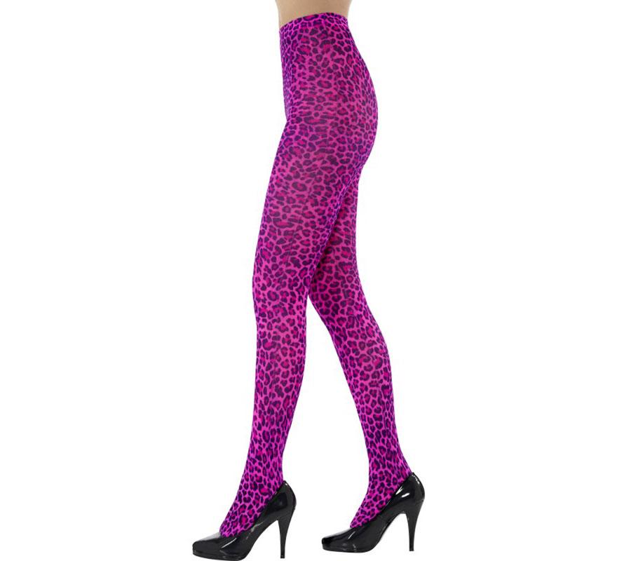 Pantys de Leopardo color Rosa. Talla única o universal. Completa tu disfraz con este artículo Sexy de Gran Calidad.