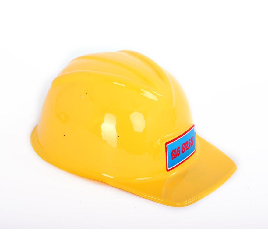 Casco de Obrero amarillo de plástico infantil